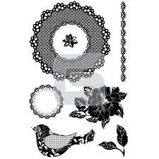 Basic Grey Clearstamps: Pretty Bird