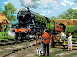 Painting By numbers A3: Steam Train