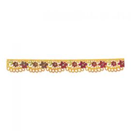 Sizzix Sizzlits Decorative Strip Die - Flower Garden w/Scallops