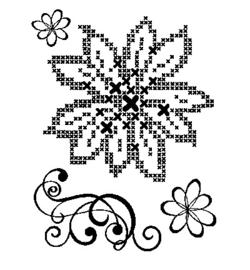 Viva Decor Clearstamps: Cross Stitch Flower & Embellishment