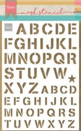 Marianne D Craft Stencil - Leger alfabet