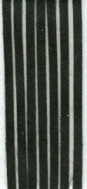 Imitatieleren koord Zwart 3mm (5mtr.)