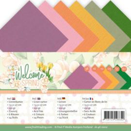 Jeanine's Art Welcome Spring - Linen Cardstock Pack  -4K