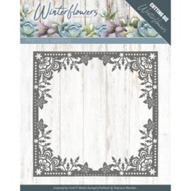 Winter flowers: Ice flower frame