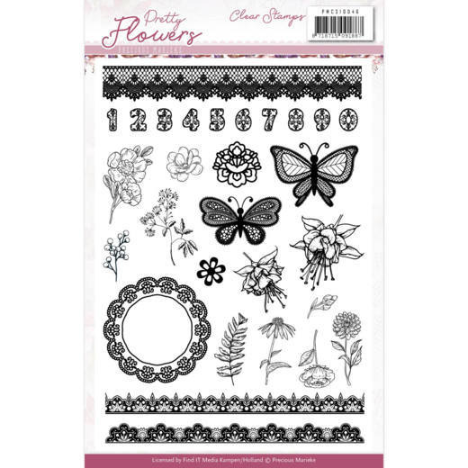 Marieke Design: Pretty Flowers Clearstamps
