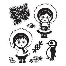 Basic Grey Clearstamps: Snow Baby