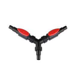 Osaka Y-splitter met kranen voor slang 25/32/38/40mm