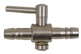 kraan metaal tbv 4/6mm slang
