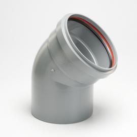 Funke pvc mof spie (rubber) 125mm 30 graden