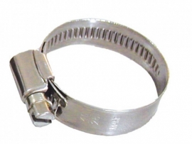 RVS slangklem (2st) tbv 20mm gewapende slang