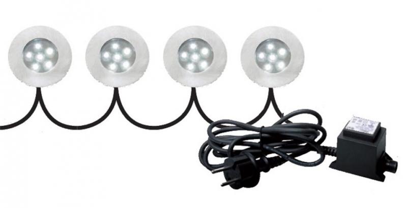 LED Set 4 spots! (grondspots)