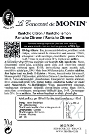 Monin Rantcho Lemon 70cl
