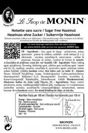 Monin Noisette - Hazelnoot (suikervrij) 70cl