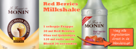 MONIN FRUITMIX Red Berries - Rode vruchten 1 Liter