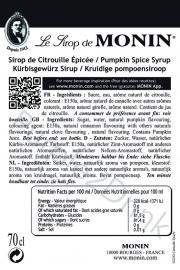 Monin Pumpkin Spice 70cl