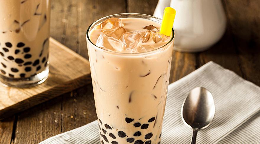 Salted Caramel Bubble Tea Latte