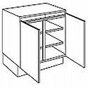 Losse greeploze keukenkast 80 cm breed 2 deuren (PU8078DT)