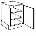 Losse greeploze keukenkast 30 cm breed 1 deur scharnieren rechts (PU3078DT R)