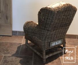 Kindersofa van riet (65x50x65cm)