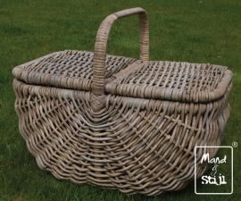 Picknickmand rond toelopend (56x34x45cm)