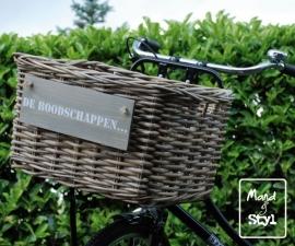 Open rechthoekige fietsmand (50x40x30cm)
