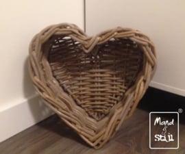 Kleine hartvormige mand (31x31x12cm)