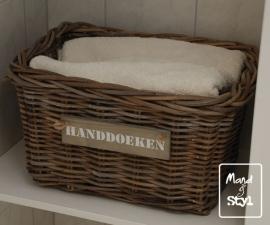 Middelgrote rechthoekige lademand voor handdoeken (43x33x25cm)