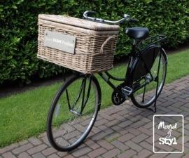 Middelgrote rotan fietsmand/koffer (62x37x38cm)