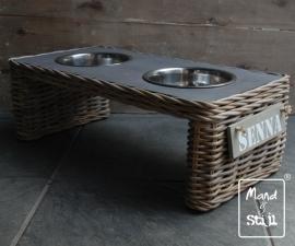 Voederbak edition Grey Table groot (60x30x20cm)