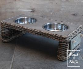 Voederbak edition Grey Table klein (50x24x16cm)