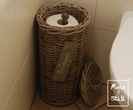 Rotan toiletrolhouder (25x50cm)
