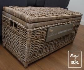 Grote langwerpige koffer/mand (95x45x45cm)