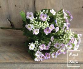Kunstbloemboeketje White/Lavendel
