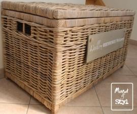 Grote langwerpige koffer/mand (90x50x50cm)