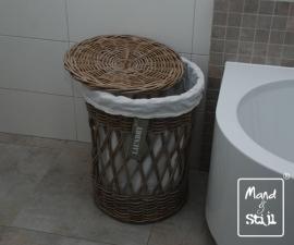 Grote ronde opengewerkte wasmand (50x60 cm)