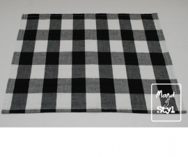 Stoffen servet (43x33cm ByAnny zwart)
