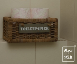 Klein strak toiletpapiermandje (32x18x15)