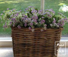 Kunstbloemen Set White/Lavendel