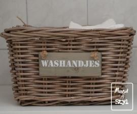 Klein rechthoekig lademandje voor washandjes (34x24x20cm)