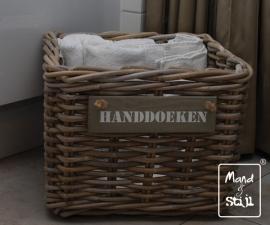 Middelgrote vierkante mand voor handdoeken (35x35x25cm)