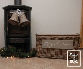 Grote kerstkoffer/mand (75x45x42cm)