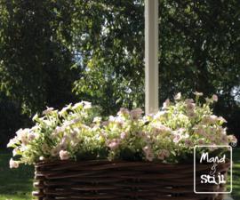 Kunstbloemen Set White/ Licht roze