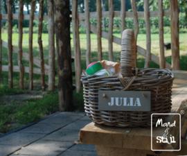 Kleine open picknickmand met hengsel (30x25x16cm)