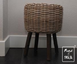 Rieten krukje (40x40x50cm)