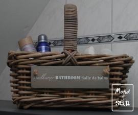 Klein hengselmandje badkamerbenodigdheden (35x25x30cm)