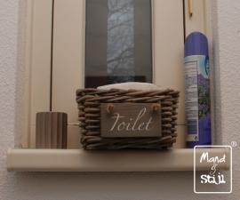 Klein mandje voor toilet (18x18x10cm)
