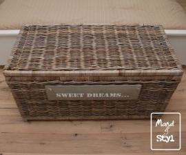 Grote langwerpige koffer/mand (110x55x55cm)