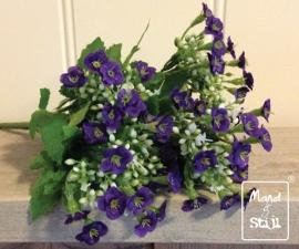Kunstbloemboeketje White/Purple