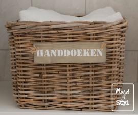 Grote vierkante lademand voor handdoeken (40x40x30cm)