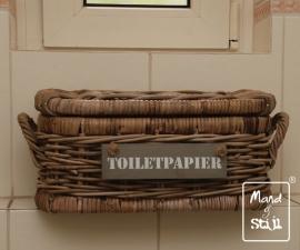 Kleine smalle koffer voor toilet (40x22x20cm)